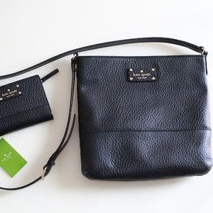 Kate Spade Bay Street Cora & Tellie Wallet Black